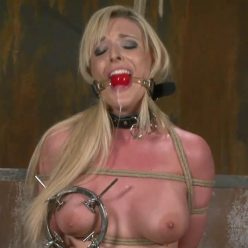 Rope Bondage - PerfectSlave – Clamped Tight. Cumming Hard – Tristyn Kennedy is tied up tightly to the chair - Watch Tristyn's tremble and cum