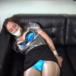Shinybound Karly Salinas is bound up extremely tight with rope– Gone Too Far - Rope Bondage
