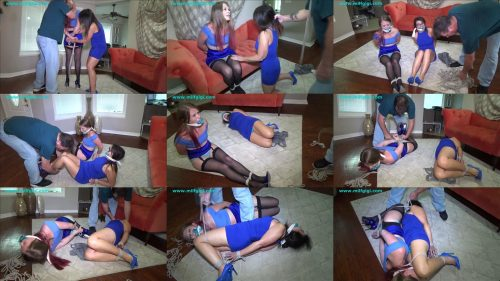 Extreme Bondage - MILF GiGi and Kitty Quinn – Forced to tie up my daughter then he tied us together - Poor helpless daughter and mother