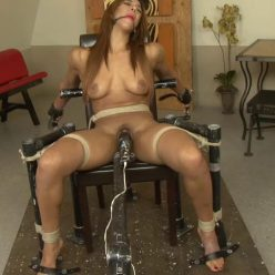 Sophia Fiore looks sexier bound to a chair with her best chocolate pussy - Perfect Slave – Sophia's Bound Moans – Sophia Fiore - Rope bondage