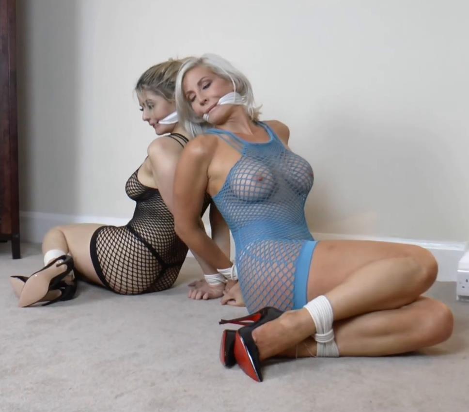 Rope Bondage - Borderlandbound - Lola Knight and Jennifer Jade is Gagged, Tied, Unable to Alert the Agency! - Full Movie