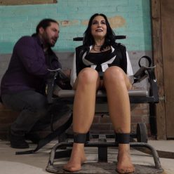 Handcuffs Bondage - Raven is arrested at work - Part 1 of 3 - Metal Bondage