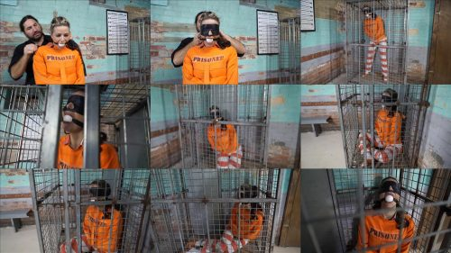 Metal Bondage  - JJ Plush is locked up again - Part 5 of 5 - JJ Plush is handcuffed in jumpsuit