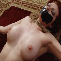 Rope Bondage - Perfect Slave – Splayed – Emily Marilyn is tied and her mouth taped with nowhere to run
