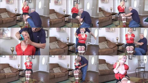 Rope Bondage - Lylah Ryder wouldn't shut up– Housewife left tied up and gagged by a home invader HD GNDB0515 - Lylah struggled to get loose