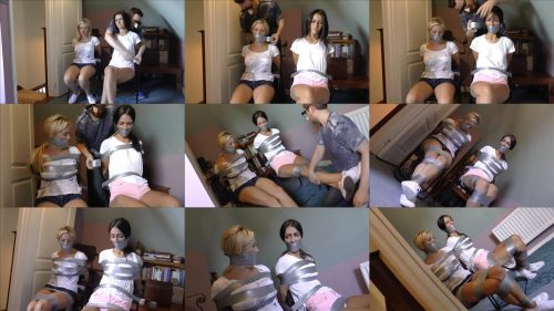 Hot, protesting mouths plugged up with cloth wads and muzzled by Borderlandbound - Chloe and Carla in: Wickedly Tape Packaged, Heavily Gagged Up Girl Snoops Cannot Alert the Visitors Downstairs! - Full Movie -Dream, and experience!