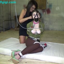 Pretty captive is still shocked by the situation - Anastasia Rose bondage, captured kept by the deviant cougar - Rope Bondage