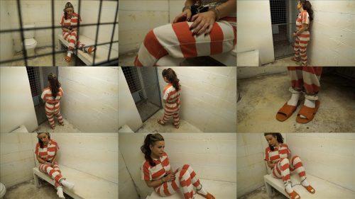 Metal Bondage  - JJ Plush is locked up again - Part 1 of 5 - JJ Plush is handcuffed in jumpsuit