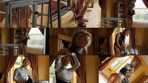 Metal Bondage - Restrained Elegance – Behind The Scenes: Tillie New Slavegirl Part One - Experiment with bondage video