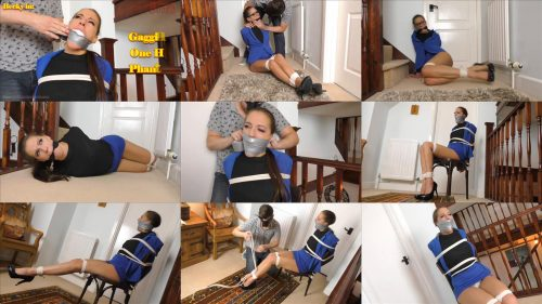 Borderlandbound Becky in: A Phantom Carapace Affair! Full Movie - Lovely Becky is viciously bound and gagged