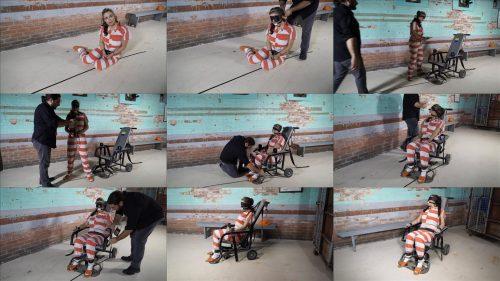 Metal Bondage  - JJ Plush is locked up again - Part 3 of 5 - JJ Plush is handcuffed in jumpsuit