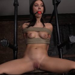 Beautiful, young woman, in amazing form is bound and gagged - Society SM – Penthouse Pet Bound and Punished – Jazmin Luv