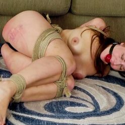 Tight Bondage - Cinched and Secured Rachel Adams – Basket Bound Ball Tied Burglar - The strange bondage equipment