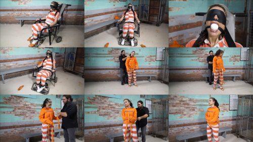 Metal Bondage  - JJ Plush is locked up again - Part 4 of 5 - JJ Plush is handcuffed in jumpsuit