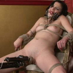 Rope Bondage - PerfectSlave – Annika Going Down – Annika Amour is bound tightly into the chair with rope - Annika is pushed her to orgasm