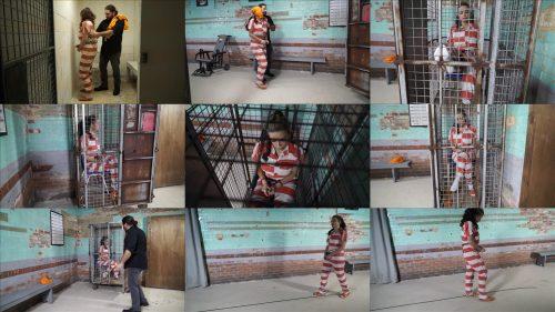 Metal Bondage  - JJ Plush is locked up again - Part 2 of 5 - JJ Plush is handcuffed in jumpsuit