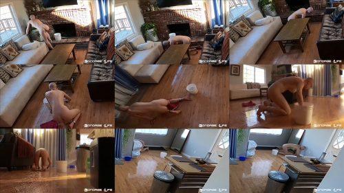 Handcuffs Bondage - Cleaning Skills! - Bondage Life – Scrubbing Away – Rachel Greyhound