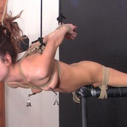 The perfect bondage - – The Flying Vee – Brynlee Nelson is tied safely with ropes