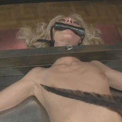 Another hot blonde restrained for Tickling - Tied For Tickling – Stocked and Tickled – Jeanie Marie