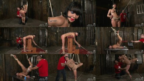 Rope Bondage - Ivan released his captive slave and got down to business roping her to place - SocietySM – Captive Slave – Mahina Zaltana