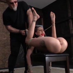 Kendra is bound tight with ropes - Society SM – Fragile Submissive in Bondage – Kendra Cole