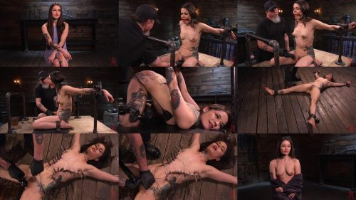 Extreme Bondage - Vanessa begins in a strappado squatting position, gagged – April 2, 2020 – Vanessa Vega