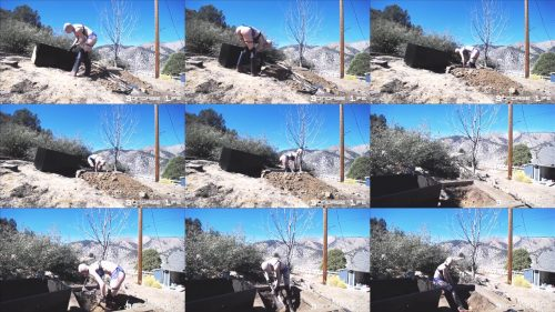 Hard labor job of excavating the hole for isolation box with handcuffs - Bondage Life – Hard Labor Digging Part 4 (Painting Edition) - Outdoor Bondage