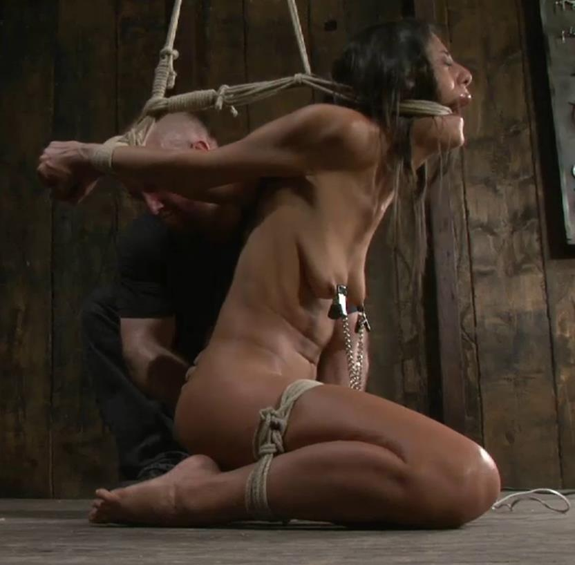 First blistering orgasm - SocietySM – Lyla's Tender Flesh – Lyla Storm - Tight suspension for bondage with blindfold