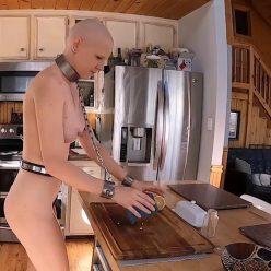 Greyhound do residential tasks with handcuffs– Greyhound The Dishwasher – Rachel Greyhound - Bondage playthings and equipment