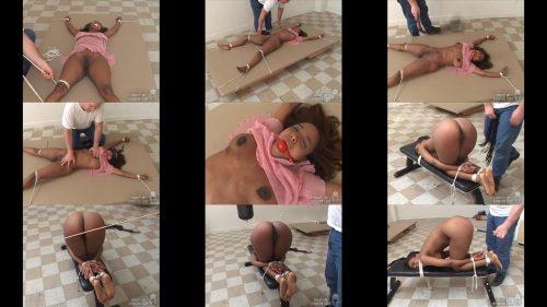 Rope Bondage - Sinnamon  is methodically bound, her mouth gagged SocietySM – Exposed – Sinnamon Love