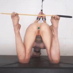 Little tension bondage!– Hold The Cane – Rachel Greyhound - Stressful bondage position