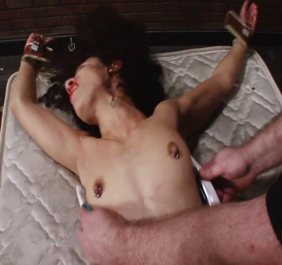Caddy Compson is roped down tightly - Tied For Tickling – Insanity – Caddy Compson - Extreme Tickling