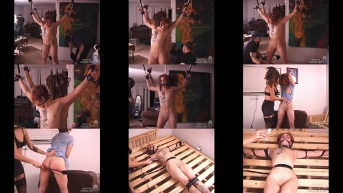 Aine's restricted - Experiments In Black – SocietySM Redux – Aine and Danielle Black - Extreme Bondage