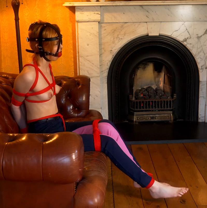 Photo of rope bondage session with Kourtney