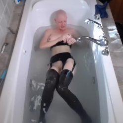Latex Bondage – Latex Bath Time - Sexy Rachel Greyhound