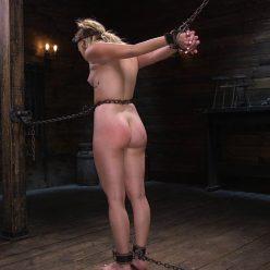 Bondage Multiple Orgasms– May 14, 2020 – Katie Kush is bound with metal chains - Metal Bondage