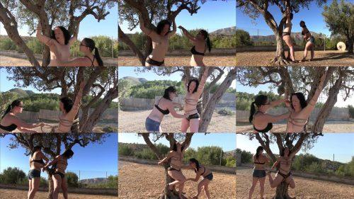 Female Bondage - Xtremely Tight Outdoor session with Minuit and Afsana - Rope Bondage