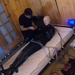 Latex Bondage - Bondage Life – Sleepsack Suffering - Rachel Greyhound in leatex