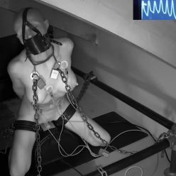 Bondage Life – The Sybian Challenge – Locked Rachel Greyhound is gagged heavily chained - Metal Bondage