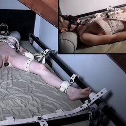 Bondage Life – Naptime With Greyhound – Rachel Greyhound is securely bound in her seclusion cell and gagged with a strong panel trick