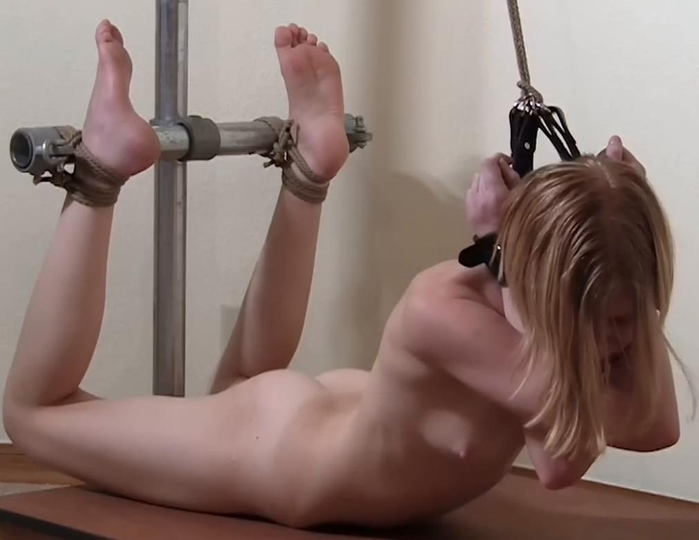 Tight Bondage - Bondage Life – Peggy's Day Out - Rachel Greyhound is tied up with leather cuffs