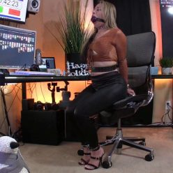 Drooling - Asiana Starr with leather belts, leather restraints - Piece of Cake - Part 1 of 2