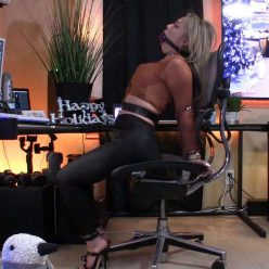 Drooling - Asiana Starr with leather belts, leather restraints - Piece of Cake - Part 2 of 2