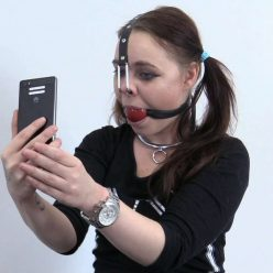 Gagged Roxy with nose hook - Is nose hook a bondage item? - Boundlife