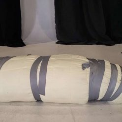 Mummification Bondage - Asian Katana Thorne is very heavy and very secured – Katana's Blanket Bondage - Cinched and Secured - Mouth Packing