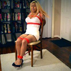 Female bondage - Nyxon and Desiree Lopez… Young Bondagette Struggles In A Chair - Nyxonsbondagefiles - Rope Bondage