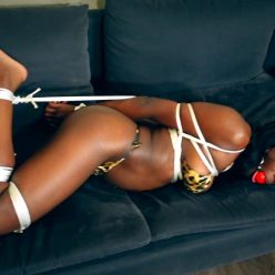Rope Bondage - Paris Love in a tight hogtie - Simple Hogtie In A Bikini - Nyxonsbondagefiles