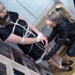 Lesbian Bondage - Bondish - Lady Larissas new maid: bondage lesson - Maid is permanently locked into chastity device!